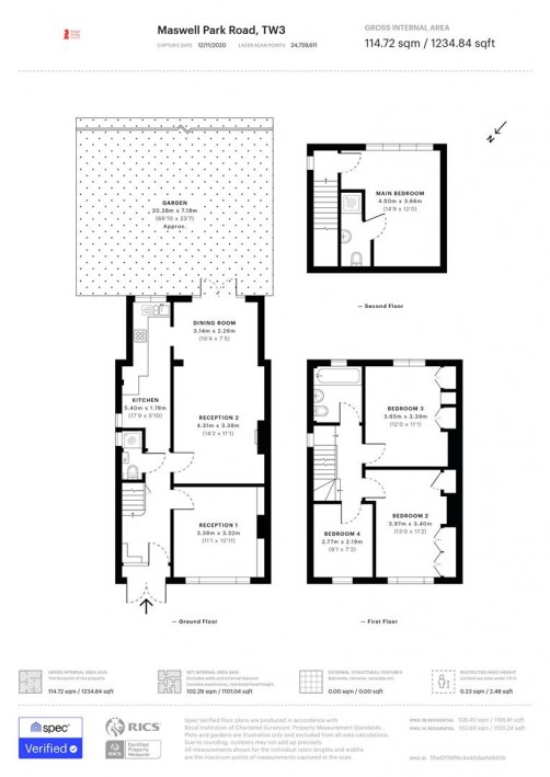Floorplan for Maswell Park Road, Hounslow